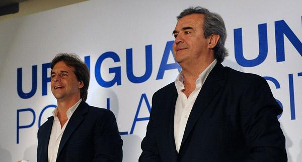 Luis Lacalle Pou y Jorge Larrañaga