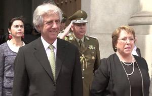 Los presidentes Vazquez y Bachelet